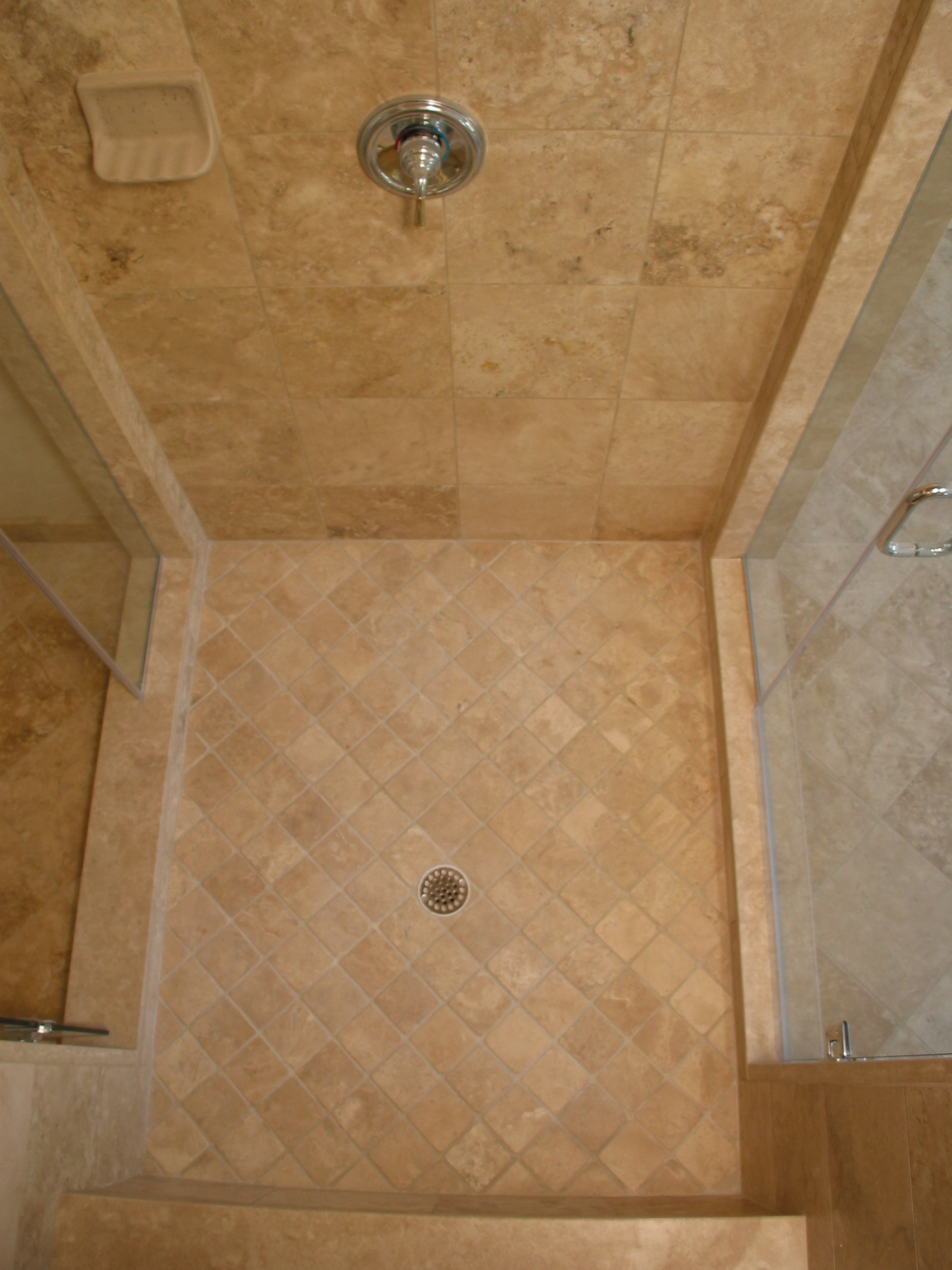 of pebble home shower margate floor in installation custom shop pan s tile tan java idea new part sliced jessimfo